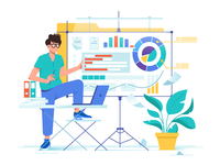 Data analysis with diagram