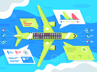 Airplane infographics