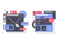 Set icons with web design
