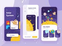 Solar system app concept