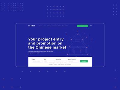Tezzle - Web site intro web design site design home page ui ux design site it company web site web