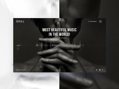 Home Page music site web site ui ux minimalism web