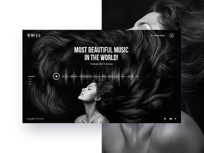 Home Page_V2 web minimalism ux ui web site music site