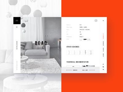 Product Page interior design interior white site web site white ui.minimalism ux
