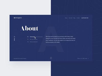 About Us Page  about us page web ui ux it company web site minimalizm
