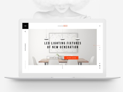 InteliteDECO ux ui.minimalism white site web white site interior interior design
