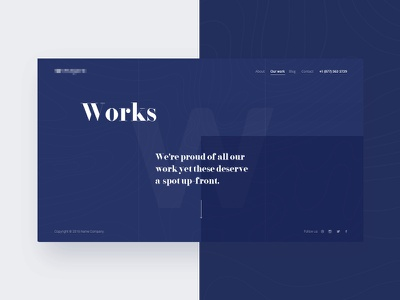 Our Works Page work page minimalizm web site it company ux ui web