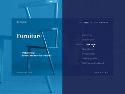 Works Page work page web ui ux it company web site minimalizm