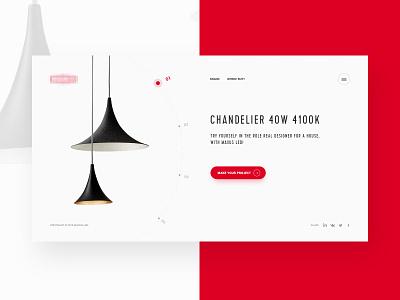 LED - Main Page site minimalizm web site led ux ui web main page