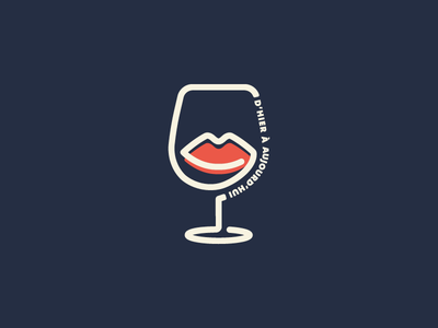 D'Hier à Aujourd'hui france epicerie fine logo wine