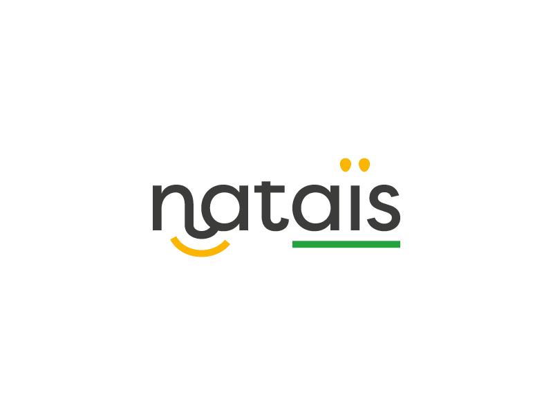 Nataïs industry smile type branding logo popcorn