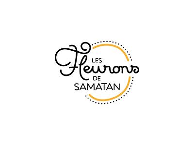 Les Fleurons de Samatan france gras foie branding lettering logotype