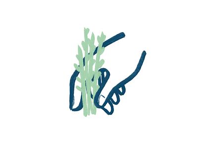 Plant pictogram picto harvest spring brush hand pictogram plant