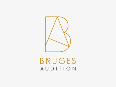 Bruges france wire monogram design a b monogram audition logotype logo