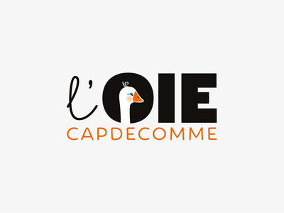 L'Oie Capdecomme gastronomy foie gras drawing graphicdesign oie goose france logotype logo