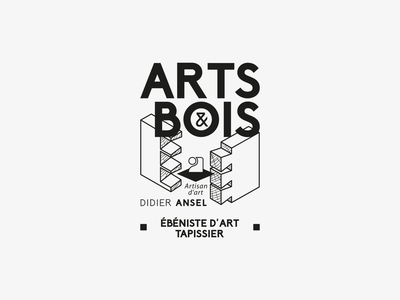 Art & Bois stamp logotype logo artisan tapissier enebiste carpenter wood