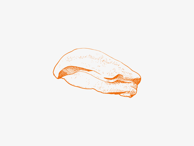 Illustration Foie Gras crosshatching foie gras food illustration designgraphic