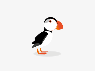 Puffin macareux puffin design bird illustration bird logo illustration oldie birds