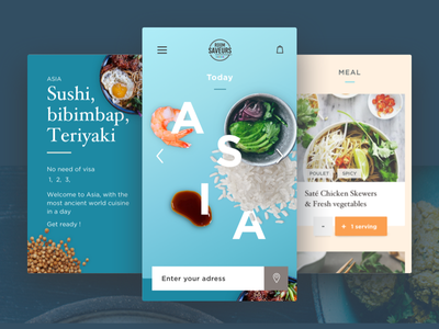 Food App interface colors design ux ui food mobile app