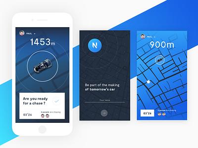 Renault car app screens connected car screen ux ui test renault map car blue app