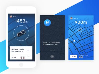 Renault car app screens