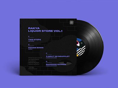 Rakya Liquor Store Vol.1 - Artwork Back cover backcover artwork vinyl techno record illustration colorful noise