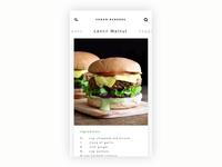 Vegan Burger App | ux mobile swipe