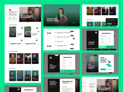 Descomplica ENEM platform — student dashboard and timetabling education learning interface lms brazil descomplica design ui ux