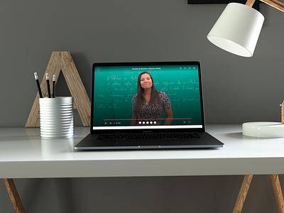 Descomplica ENEM platform — online lecture experience video interface design learning education lms brazil descomplica ui uxui ux