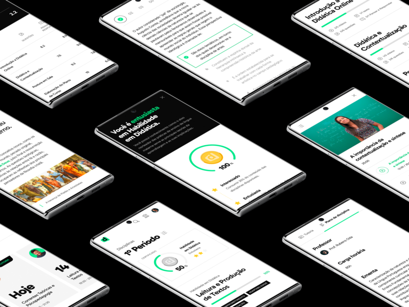 Descomplica College — User Interface faculdade brazil education learning interface design ux ui lms descomplica