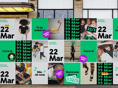 Descomplica College — posters college visual identity branding design learning education brazil descomplica