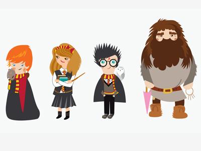Harry Poter for VisitBritain illustration character design facebook app