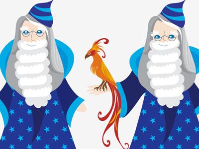 Dumbledore illustration character design facebook app