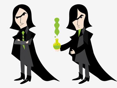 Snape illustration character design facebook app