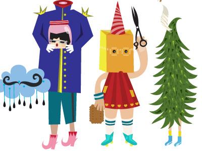 HomeMade i illustration character design exhibition poster