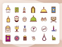 Islamic Colored Icons