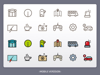 AlAin Zoo Mobile icons vector design background arabic app animals illustration logo icons zoo