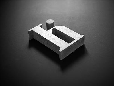 Hi concrete. bold minimal typography branding concrete logo