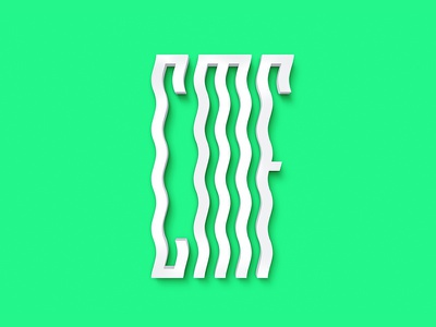 Croatia Music Festivals 3d  minimal clean identity branding logo 3d
