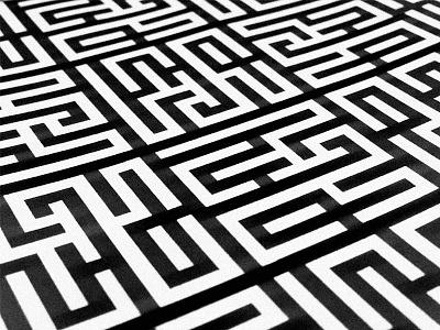 Had pattern pattern font typography labyrinth maze logo identity