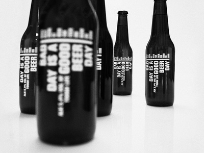 Bad day is a good beer day identity branding bw minimal beer