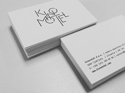 Kinomotel identity branding minimal