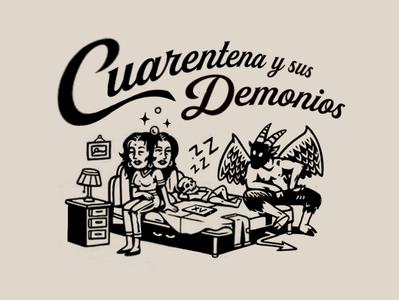 Tiempo de convivir con los demonios satan design characterdesign illustration art illustration covid-19 covid19