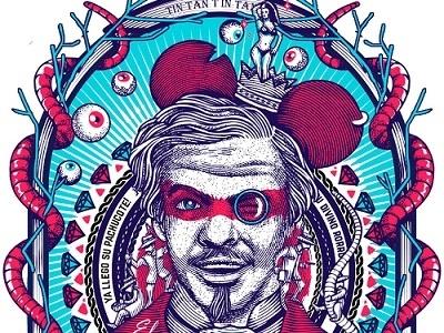 El rey del barrio rata tongolele oro cine mexico ilustrator tintan