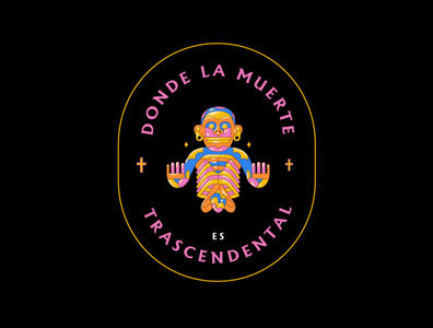 TRASCENDENTAL dead brands badge diseño de logo ilustracion illustrator illustration disegn mexican mexico dead mexico city