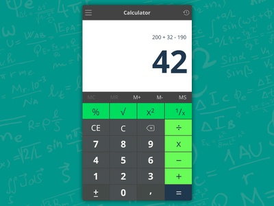 Daily UI #004 - Calculator 004 dayli-ui