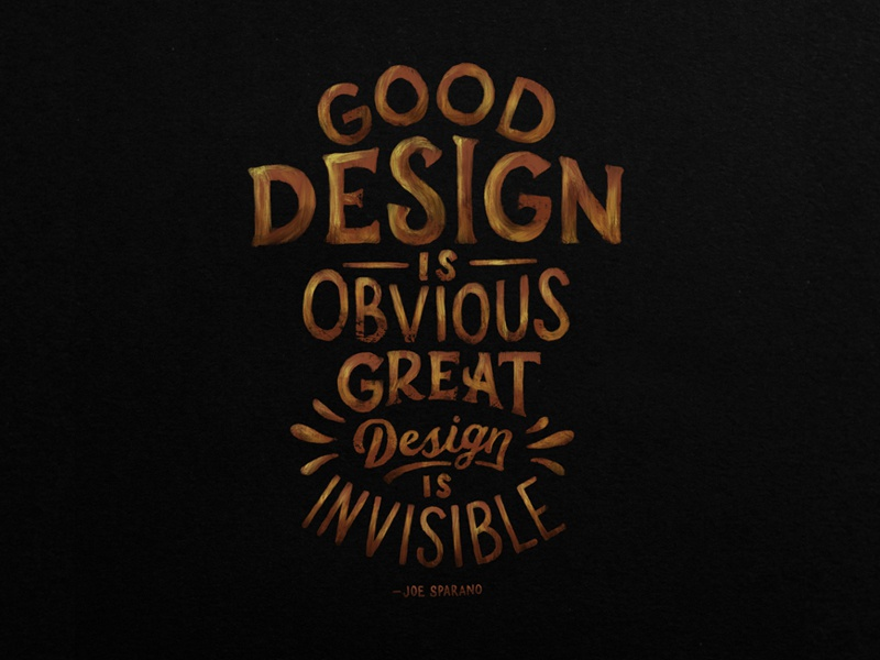 Great Design Is Invisible By Daniel Neuman On Dribbble