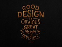Great Design is Invisible