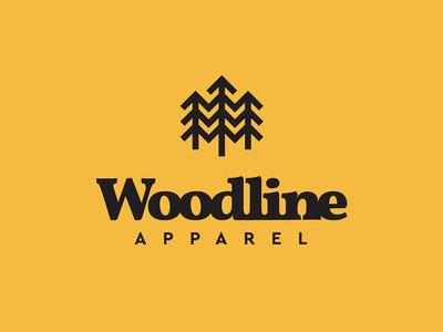 Woodline Logo apparel logo lettering logo appalachian explore mountains trees woodline adventure apparel design apparel