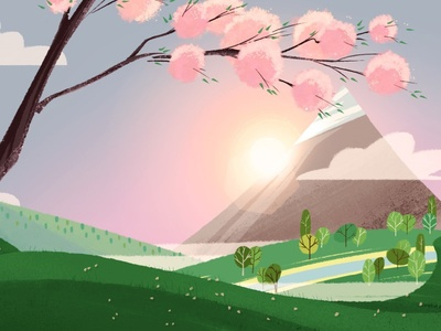 Fuji sun sakura japanese japan fuji